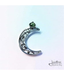Moon-shaped pendant by Jewelery signed Mylene Roy