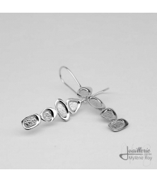 Sterling silver hook earrings by Jewelery signed Mylene Roy