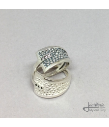Sting Aum silver rings by Jewelery signed Mylene Roy