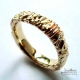 Carved wedding ring by Jewelery signed Mylene Roy
