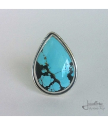 Ring with turquoise by Jewelery signed Mylene Roy