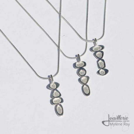 Sterling Silver Delicate Pendant by Jewelery signed Mylene Roy
